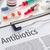 the word antibiotics written on a clipboard stock photo © zerbor
