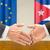 representatives of the eu and cuba shake hands stock photo © zerbor