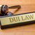 a gavel and a name plate with the engraving dui law stock photo © zerbor