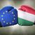 Węgry · europejski · banderą · Pokaż · Unii · żółty - zdjęcia stock © zerbor