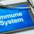 免疫の · DNA鑑定を · 治療 · 文字 · 食べ · がん - ストックフォト © zerbor
