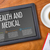 tablet on a wooden desk   health and medical stock photo © zerbor
