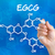 hand with pen drawing the chemical formula of egcg stock photo © zerbor