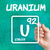 symbol for the chemical element uranium stock photo © zerbor