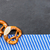 slate plate with two pretzels with a bavarian diamond pattern stock photo © zerbor