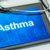 tablet with the diagnosis asthma on the display stock photo © zerbor