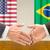 USA · EU · kézfogás · üzlet · kezek · siker - stock fotó © zerbor