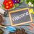 iskolatábla · növény · asztal · kert · szerszámok · üdvözlet - stock fotó © Zerbor