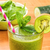 Green smoothie with a drinking straw and fresh ingredients stock photo © Zerbor