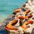 spiraal · shell · zandstrand · zee · panoramisch - stockfoto © zhukow