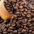 chicchi · di · caffè · bag · tavolo · in · legno · caffè · natura - foto d'archivio © zhukow