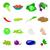 szett · fényes · zöldség · ikon · szett · vektor · ikonok - stock fotó © zhukow