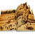 an opened old book with curl a picture western walltemple mount jerusalemphoto in old color imag stock photo © zhukow