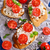 sandwich · fromages · tomate · basilic · papier · alimentaire - photo stock © zia_shusha