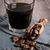 koffie · donkere · houten · twee · witte - stockfoto © zia_shusha