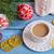 piros · csésze · dísz · karácsony · izolált · fehér - stock fotó © zia_shusha