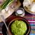 verde · chícharos · aceite · de · oliva · cerámica · tazón · mesa - foto stock © zia_shusha