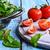 tomatoes and green lettuce stock photo © zia_shusha