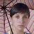 lány · esernyő · színek · pihen · virágok · virág - stock fotó © zittto