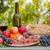 ワイングラス · 肉 · ワイン · 古い · キャンバス · 食品 - ストックフォト © zittto
