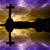 クロス · シルエット · 復活 · 空 · 愛 · 光 - ストックフォト © zittto