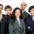 üzleti · csapat · öt · ember · izolált · fotó · öt · személy - stock fotó © zittto