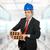 レンガ · 成熟した · ビジネスマン · 2 · 白 · ビジネス - ストックフォト © zittto