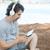 таблетка · пляж · читатель · песок - Сток-фото © zittto