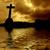 meer · kruis · zonsondergang · prachtig · kleur - stockfoto © zittto