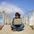 mulher · trabalhando · laptop · praia · computador · mulheres - foto stock © zittto