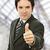 большой · палец · руки · вверх · молодые · деловой · человек · служба · бизнеса - Сток-фото © zittto