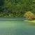 cratera · lago · trilha · marrom · verde · montanhas - foto stock © zittto