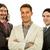 csapat · három · üzletemberek · izolált · fehér · üzlet - stock fotó © zittto