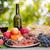 pão · carne · copo · de · vinho · comida · fundo · álcool - foto stock © zittto