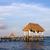 caribbean · zee · houten · dok · cancun · Mexico - stockfoto © zittto