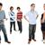 gruppo · adolescenti · isolato · bianco - foto d'archivio © zittto