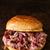 rustico · americano · carne · di · maiale · sandwich · colore - foto d'archivio © zkruger