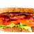 domuz · pastırması · marul · domates · sandviç · yalıtılmış · beyaz - stok fotoğraf © zkruger