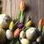 páscoa · buquê · tulipas · ovos · de · páscoa · colorido · bokeh - foto stock © zolnierek