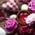 spa · rozen · harten · houten · tafel · achtergrond - stockfoto © zolnierek