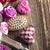 romántica · regalo · rosas · corazones · rosa · hecho · a · mano - foto stock © zolnierek