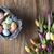 カラフル · チューリップ · 花束 · バスケット · イースターエッグ · 木製 - ストックフォト © zolnierek
