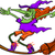 bruxa · cabo · de · vassoura · ilustração · menina · traje · equitação - foto stock © zooco