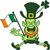 proud leprechaun running and waving an irish flag stock photo © zooco