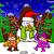 hóbortos · rajz · karácsony · golyók · mikulás · hóember - stock fotó © zooco