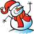 pupazzo · di · neve · indossare · sciarpa · illustrazione · cap · Natale - foto d'archivio © zooco
