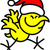 cool yellow chicken celebrating christmas stock photo © zooco