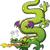 green dragon breathing fire stock photo © zooco