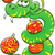 зеленый · змеи · Cartoon · морем · природы · фон - Сток-фото © zooco