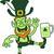 leprechaun laughing while balancing a glass of beer on his foot stock photo © zooco